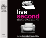 Live Second: 365 Ways to Make Jesus First - unabridged audiobook on CD