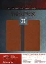 NVI Biblia de Referencia Thompson--piel imitada, marrn/cafe (NIV Thompson Chain-Reference Bible--imitation leather, brown/tan)