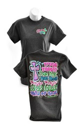 Truth Talkin, Praise Singin Shirt, Cherished Girl Style Shirt, Charcoal, Large
