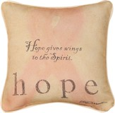 Hope Gives Wings To the Spirit Pillow