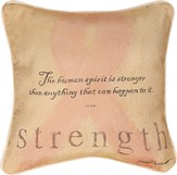 Strength, Pink Ribbon Pillow