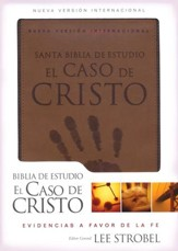Biblia de Estudio el Caso de Cristo NVI, Piel Italiana Duo Tone  (NVI Case for Christ Study Bible, Italian Leather Duo Tone)