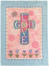God Is Love Mini Fleece Throw