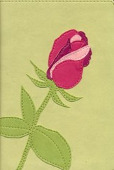 Biblia Ultrafina Compacta NVI, Colecc. de Flores, Rosa, Piel I.  (NVI Compact Thinline Bible, Flower Collection, Rose)