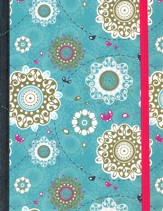 NIV My Journal Bible--hardcover, turquoise with elastic closure