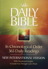 NIV Daily Bible: In Chronological Order Softcover - Slightly Imperfect