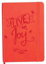 Live in Joy Notebook, Orange