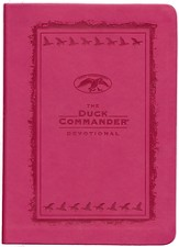 The Duck Commander Devotional, Pink, Imit. Leather -  Slightly Imperfect