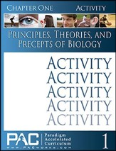 Principles, Theories & Precepts of Biology, Chapter 1 Activities