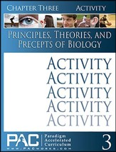 Principles, Theories & Precepts of Biology, Chapter 3 Activities