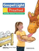 Preschool Activity Pages Ages 2 & 3 Fall 2014 Year B