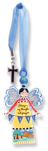 Always in My Thoughts, Keepsake Angel with Charm