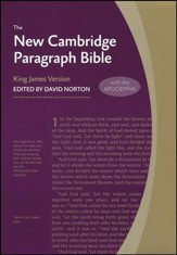 New Cambridge Paragraph Bible with Apocrypha, Personal Size, Hardcover, gray