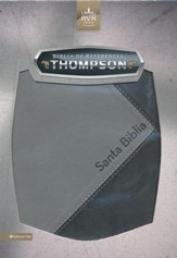 Biblia de referencia Thompson RVR 1960 con Indice, Italian Duo-Tone, Black/ Gray, With Thumb Index