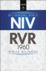 Biblia Bilingue NIV/RVR 1960, Imit. Piel, Negro  (NIV/RVR 1960 Bilingual Bible, Imit. Leather, Black)