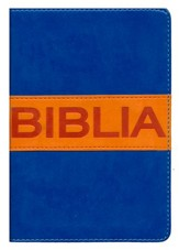 NVI Santa Biblia, ultrafina compacta, colleccion contempo, Italian Duo-Tone, Blue/Orange