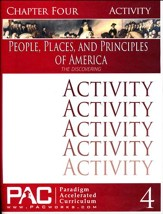 The People, Places and Principles of America; Chapter Four Activities