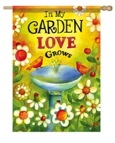 In My Garden Love Grows Flag, Large
