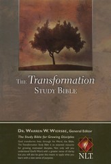 The NLT Transformation Study Bible - imitation leather, black