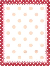 Red & White Dots Paper
