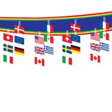 International Flag Ceiling Decor