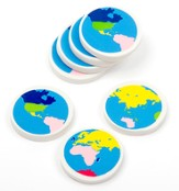 Eraser Globes, pack of 48