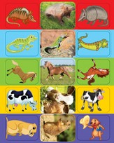 Animal Stickers, pack of 5 sheets