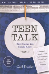 Table Talk Volume 2 - Bible Stories You Should Know - Teen Talk Youth Leader Guide