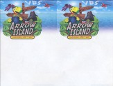 Arrow Island Theme Invitation Fliers, pack of 50