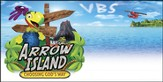 Arrow Island Theme Banner (6' x 3')