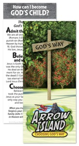 Arrow Island Gospel Bookmarks, pack of 50
