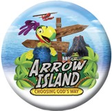 Arrow Island Theme Buttons, pack of 20
