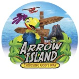Arrow Island Logo Stickers, pack of 50