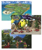 Jumbo Arrow Island Posters, pack of 3