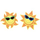 Island Sun Magnets, pack of 12