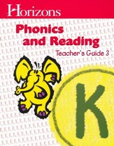 Horizons Phonics & Reading, Grade K, Teacher's Guide 3