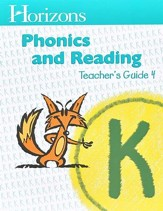 Horizons Phonics & Reading, Grade K, Teacher's Guide 4