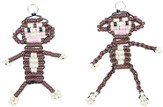 Beaded Monkey Key Chains, pack of 12