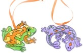 Frog and Gecko Sun Catchers, pack of 12