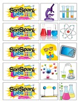 VBS 2015 SonSpark Labs - Theme Stickers, Pack of 75