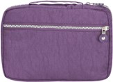 Crinkle Nylon Spine Handle Bible Cover, Purple, Extra Large