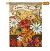 Give Thanks Banner Flag, Large