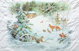 Winter Nativity Cards, Box of 16