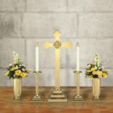 Budded Cross Altar Set