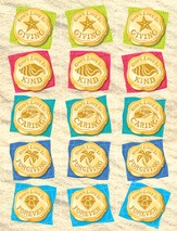 VBS 2014 SonTreasure Island- Daily Treasure Stickers: 150 Pack