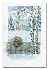Yuletide Traditions, Snowy Church Cards, Box of 16