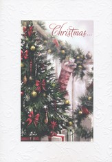 Christmas Embossed Christmas Card, Box of 25
