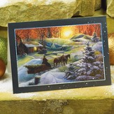Landscape Sleigh Christmas Cards, Package of 25