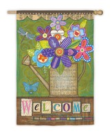 Welcome Bouquet Flag, Large