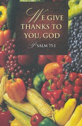 We Give Thanks Thanksgiving Bulletins (Package of 50)